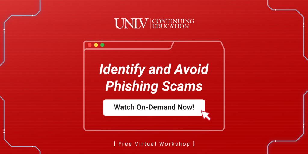 identify and avoid phishing scams workshop